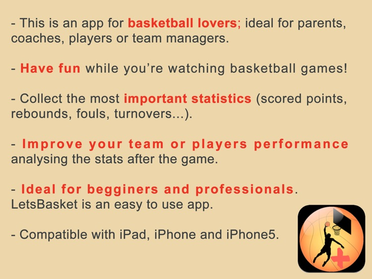 LetsBasket HD [Free! Your Hoop Stats and Score Book, Scoreboard, Timer and Scouting for coach & parents] screenshot-4
