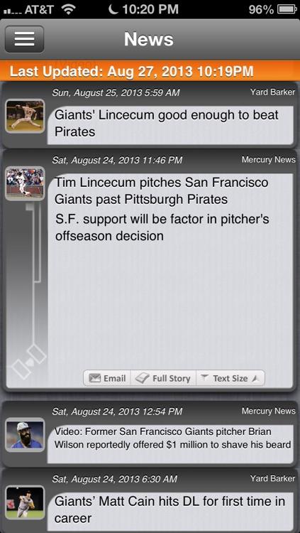 San Francisco Baseball Live screenshot-3