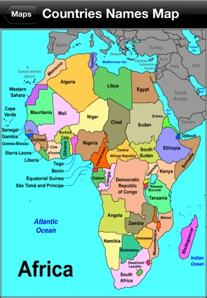 africa map with names and capitals