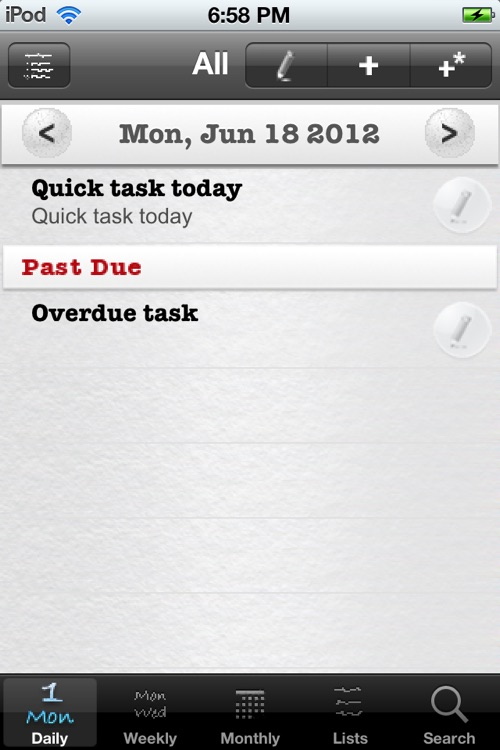 Daily Tasks (To Dos)