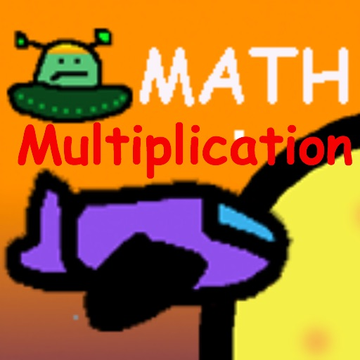 Space Math Race multiplication
