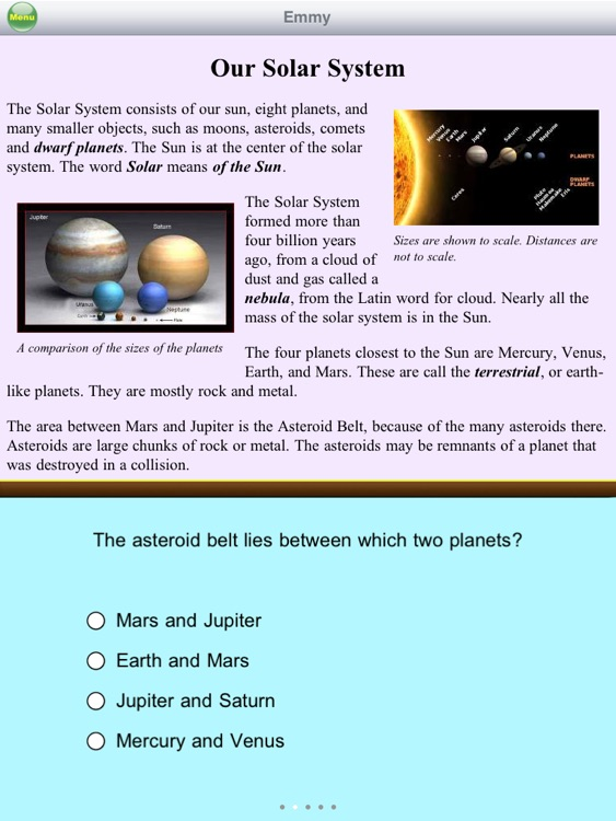 Reading Comprehension Solar System Free for 5th Grade by
