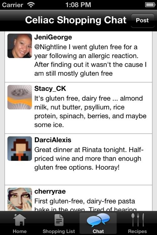 Celiac Shopping List & Gluten Free Recipes screenshot-3