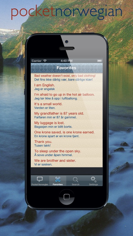 Pocket Norsk | handy Norwegian phrasebook with speech screenshot-3