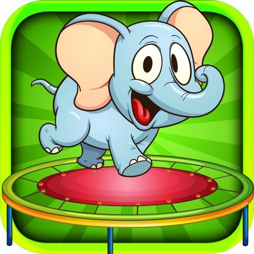 Baby Elephant Trampoline Adventure icon