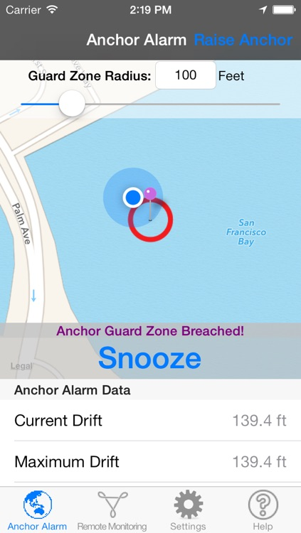 Anchor Alarm for Sail and Power Boaters