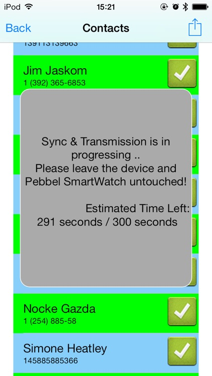 Contacts | Address Book for Pebble SmartWatch - Sync and Lock your contacts in safe screenshot-0