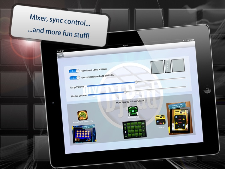 myDjPad - looper and audio effects for dj mixing and looping in dance music style screenshot-4