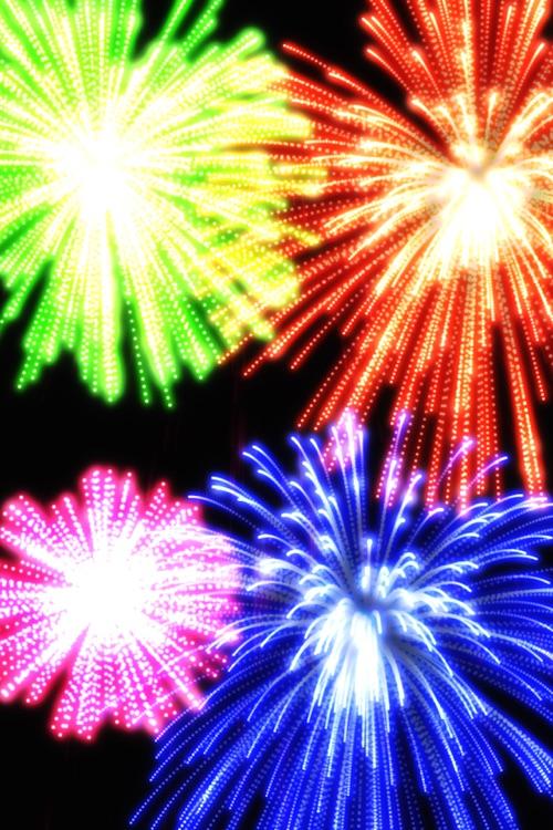 Real Fireworks Artwork Visualizer