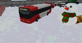 Bus winter parking - 3D game screenshot one