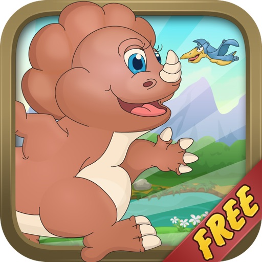Baby Dino Run Free - Dinosaur Running Kids Game