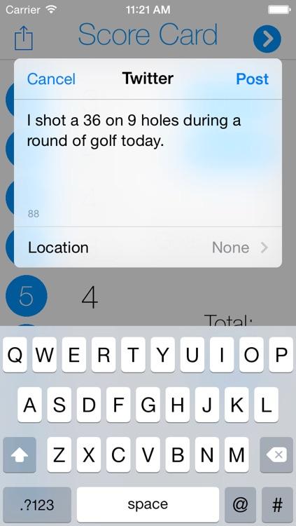 Score Card: Digitalize Your Golf Score