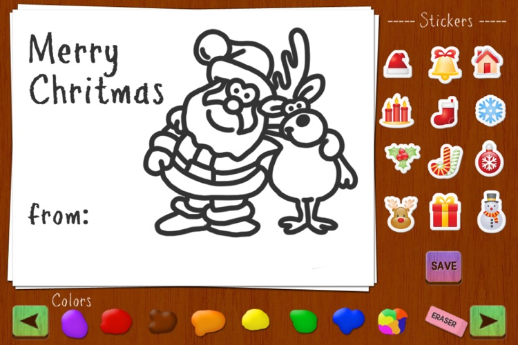Christmas Draw and Send: Personal and Fun Greeting Cards screenshot-3