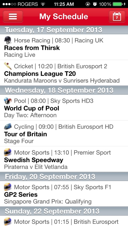 Live Sport On TV – With Sky+ Remote Record screenshot-3