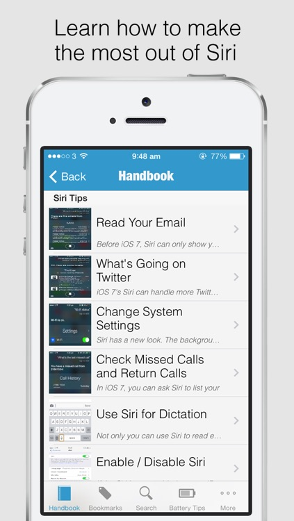 Secret Handbook for iOS 7 - Tips & Tricks Guide for iPhone screenshot-3