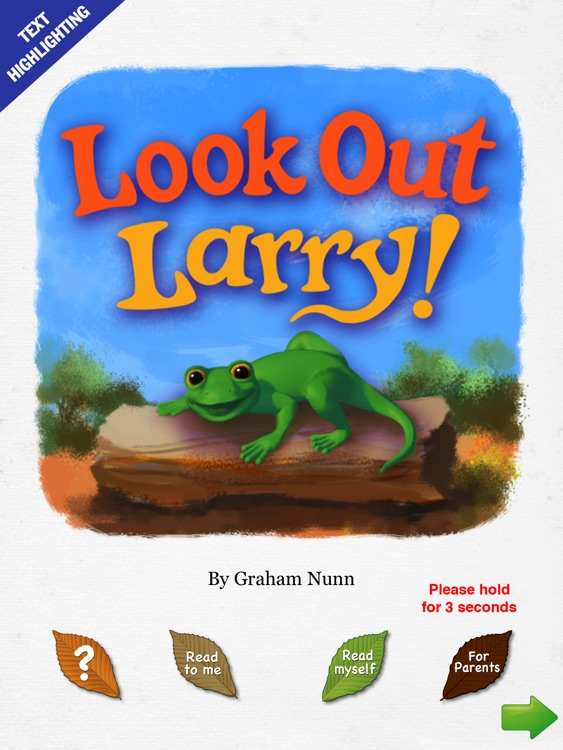 Look Out Larry! animated story book - Wasabi Productions screenshot-0