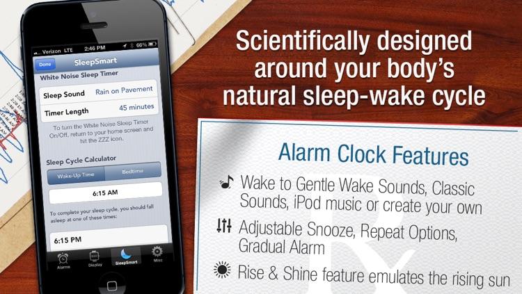 SleepSmart Insomniac Sleep Genius: Best Sleep and Awakening Ever with Alarm Clock, Sleep Cycle and White Noise Sound Machine! screenshot-3