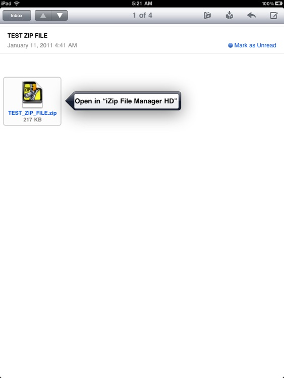 Zip File Manager HD for iPad screenshot-1