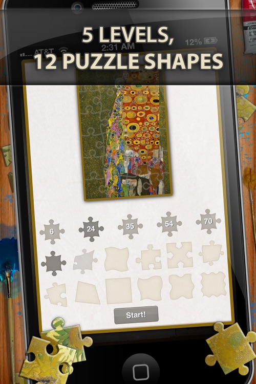Gustav Klimt Jigsaw Puzzles - Play with Paintings. Prominent Masterpieces to recognize and put together