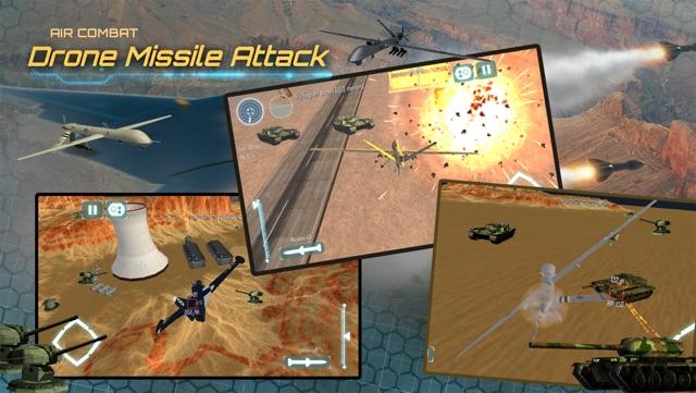 Air-Combat Drone Test Pilot Missile Attack Sim 3D Screenshot
