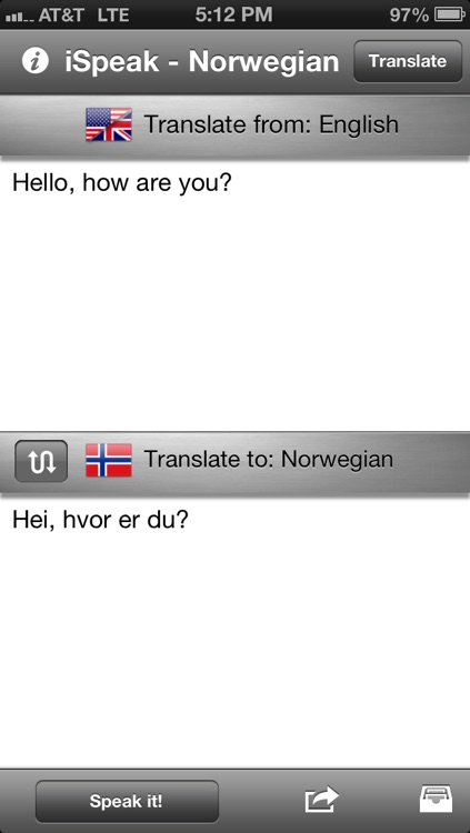 iSpeak Norwegian