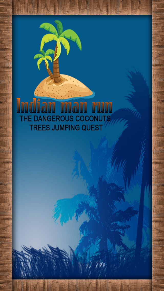 Indian man run - The dangerous coconuts trees jumping quest