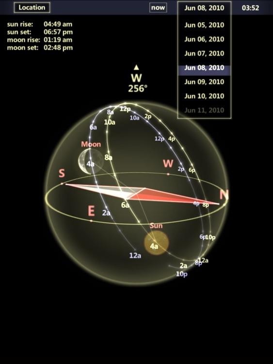 3D Sun&Moon Compass HD screenshot-3