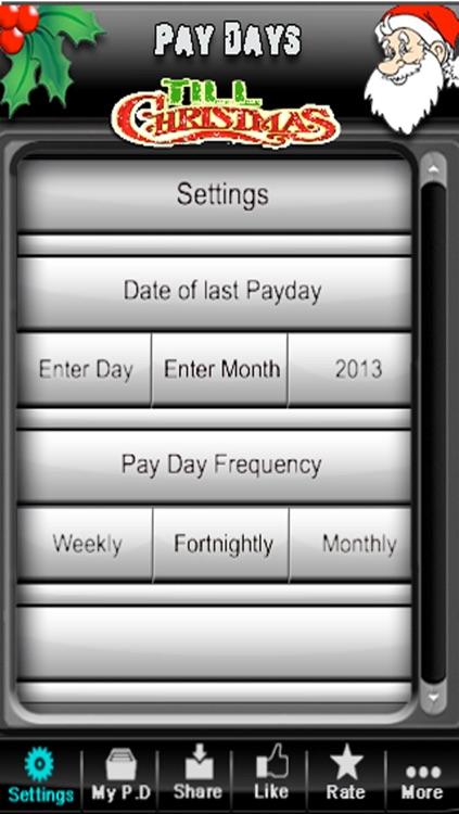 Pay Days Till Xmas
