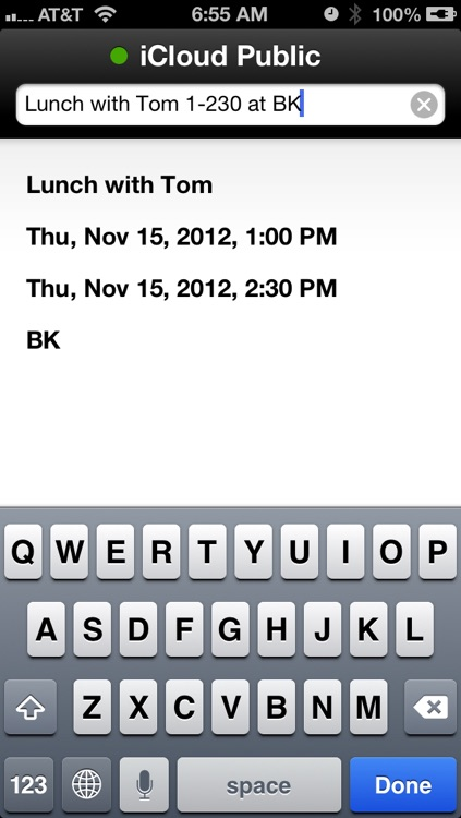 QuickCal - The natural language calendar for iOS