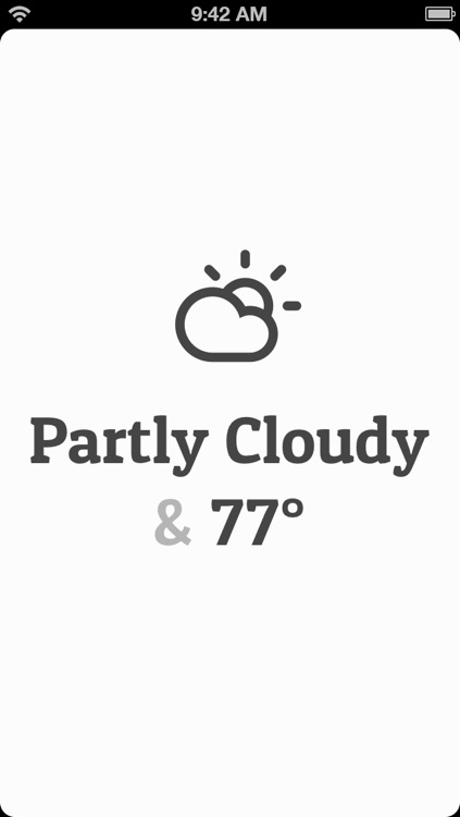 Conditions — Beautiful Weather Info on the Go!