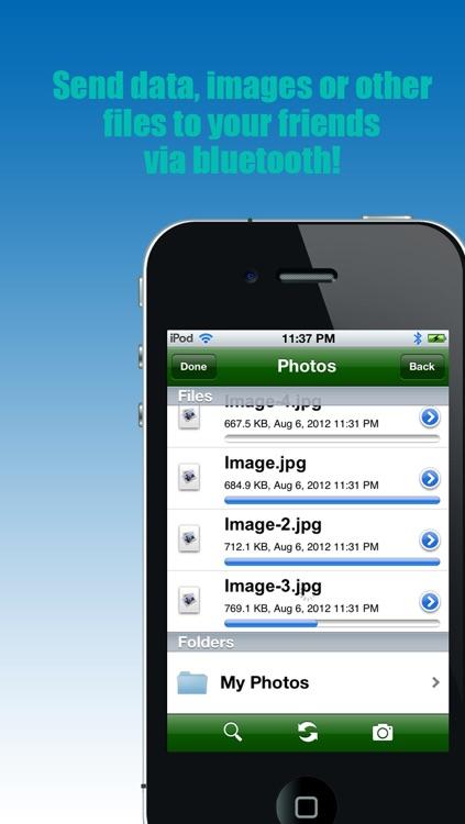 "Bluetooth - ""Transfer photos & files via bluetooth (For iPhone, iPod & iPad)"" screenshot-3"