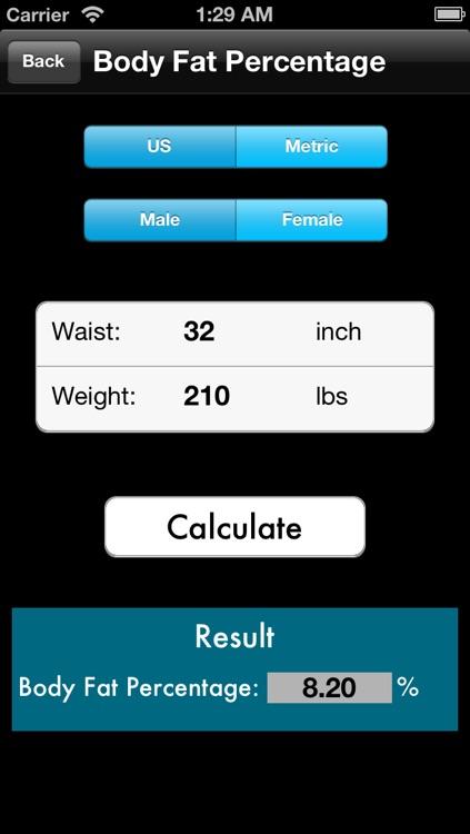 BMI - BMR - Body Fat Percentage Calculator Free screenshot-3