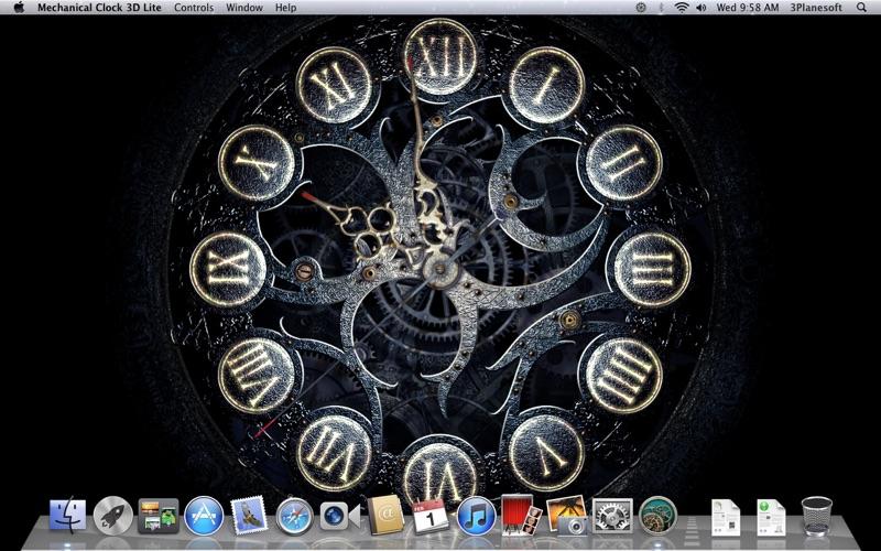 Screenshot #1 for Mechanical Clock 3D Lite