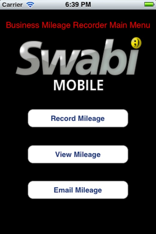 Business Mileage Recorder