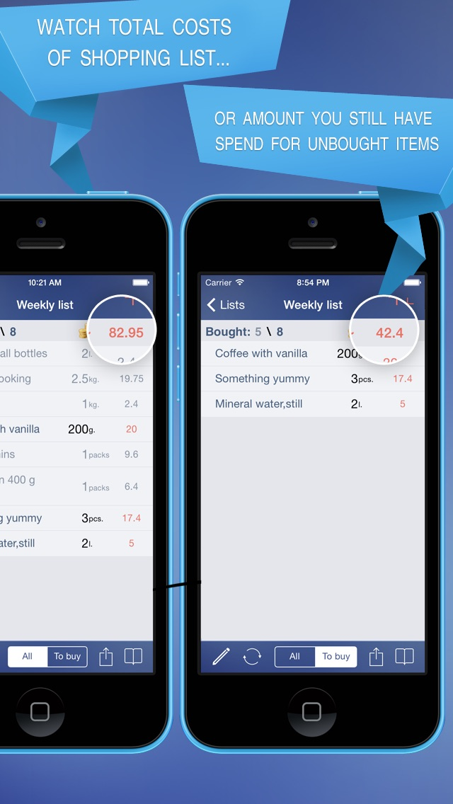 Just Buy! - Shopping list with calculator and purchase tracker app image