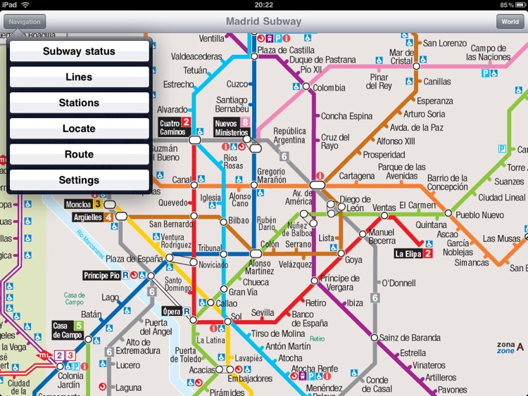 Madrid Subway for iPad
