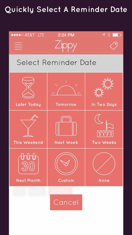 Zippy - Tasks and Reminders screenshot-4