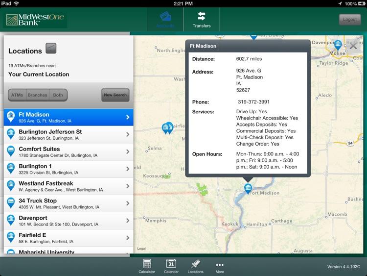 MidWestOne Bank for iPad screenshot-4