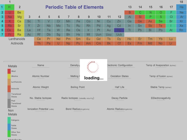 The periodic table hd on the app store ipad screenshots urtaz Images