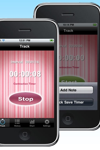 Contraction Timer Free screenshot-1