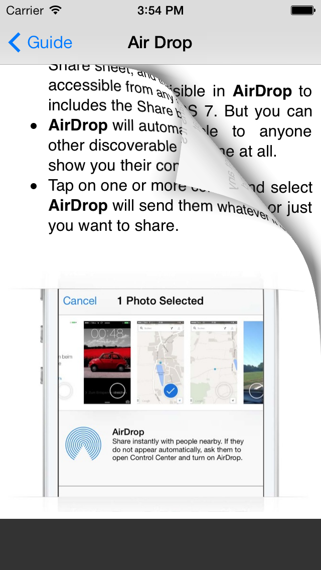 Guide for iOS 7 - Tips, Tricks & Secrets for iPhone, iPad & iPod Touch Screenshot