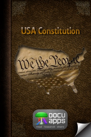 The US Constitution (DocuApps) Screenshot on iOS