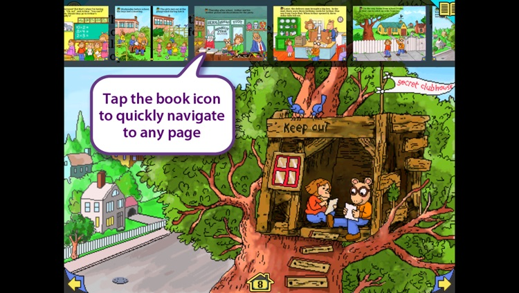 Arthur's Birthday - Wanderful interactive storybook in English and Spanish