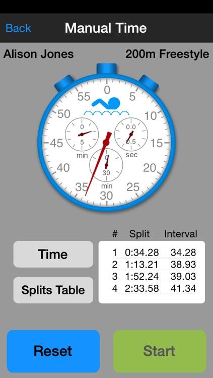 SwimChrono - Swim Event Timing and Data Management screenshot-3