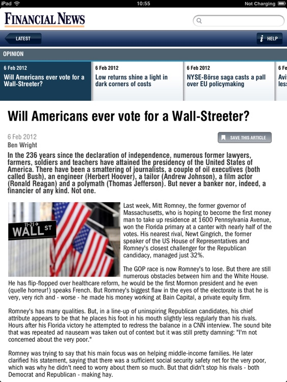 Financial News for iPad screenshot-1