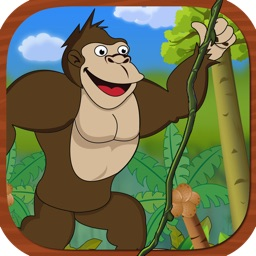 Gorilla King Jungle Swing Free - Fun Physics Game