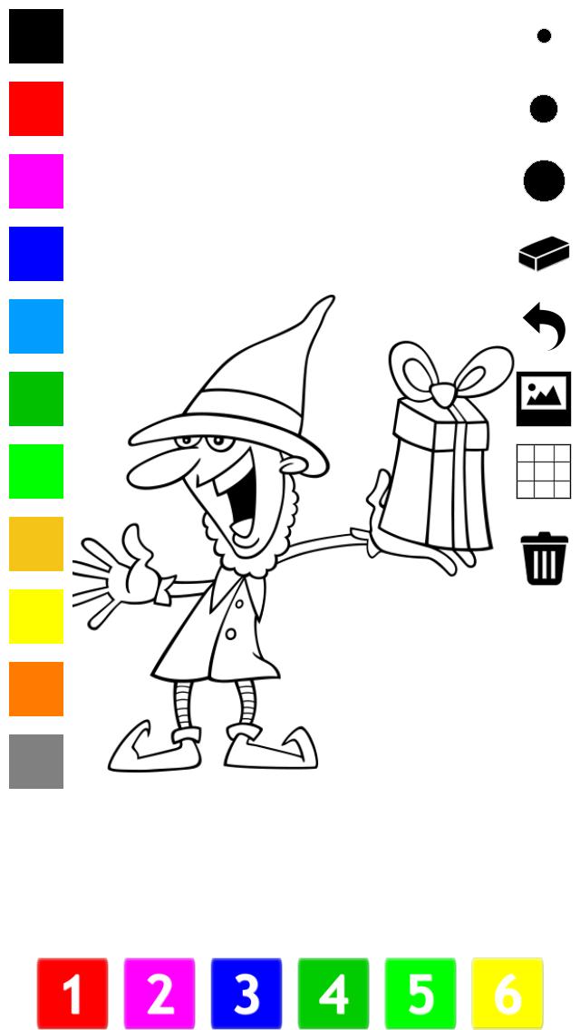 塗り絵の本 子供のためのクリスマスのサンタクロース、雪だるま、エルフや贈り物のような多くの写真とともに。絵を描画する方法:学ぶためのゲームのおすすめ画像5