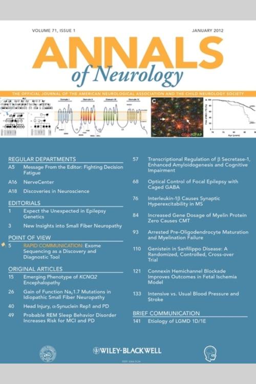 Annals of Neurology Journal