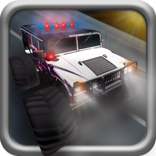 Police Chase Monster Truck Car Off-Road Drag Race Game Free (3D Real Test Driving Traffic Sim)