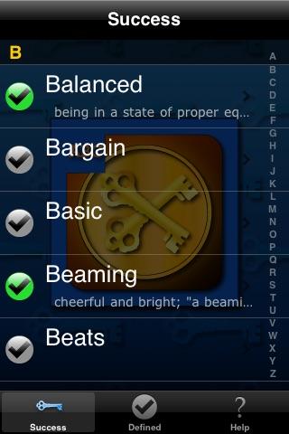 Screenshot of Keys To Success